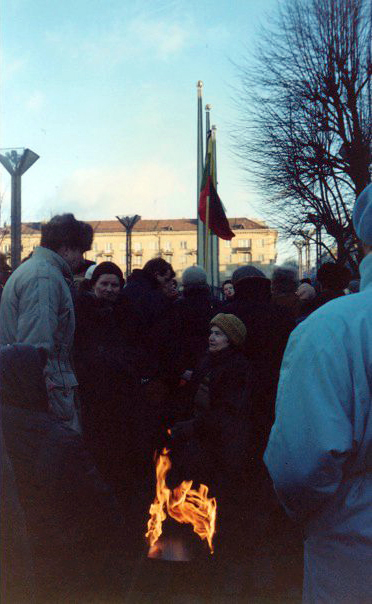 People Serving As Human Shields at Lithuanian Parliament - January 27, 1991