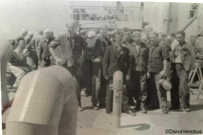 Chapter 1: Grandpa with Other Refugees on the US Navy Ship Traveling to the United States