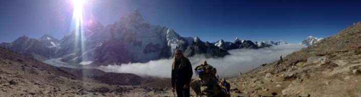 """How Many people get the opportunity to watch the sun rise over Mt. Everest? I continue to seek these types of moments."""