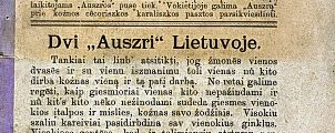 "1883: Lithuanians' ""National Awakening"""