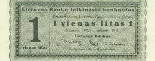 September 25, 1922: National Currency Established