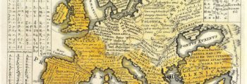 1741 Map of Europe